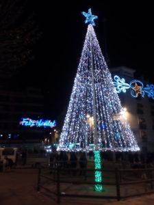Árbol de Navidad en Cuenca